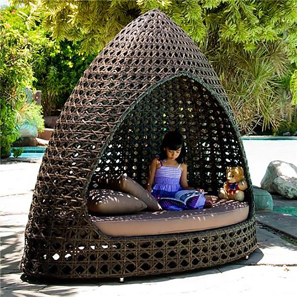 Outdoor Daybed , Rattan Bed, Outdoor Lounges, Daybed Outdoor Sofa