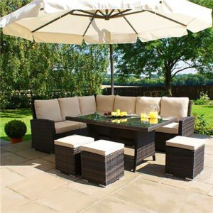 Rattan dining sofas table, rattan garden furniture sofas, patio furniture