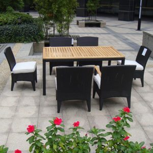 Wicker furniture,Rattan dining set, Rattan square table,Rattan round tables