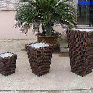 Outdoor Planters, Flower planter pots, rattan garden pots