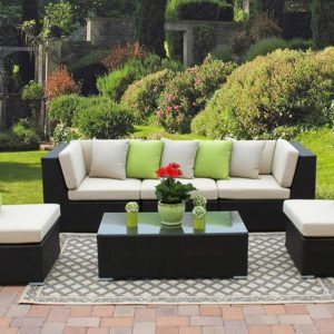 Rattan sectional sofas, wicker conversation sofas, rattan couch