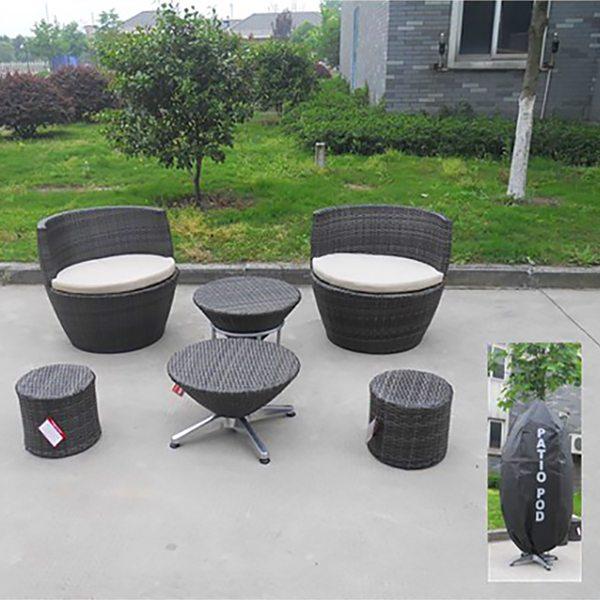 Rattan Bistro Set, rattan folding table, rattan bar chairs, wicker bstro set