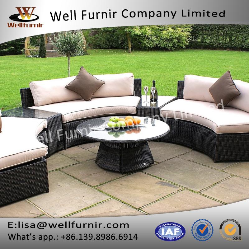 Round Table Garden Furniture Brown