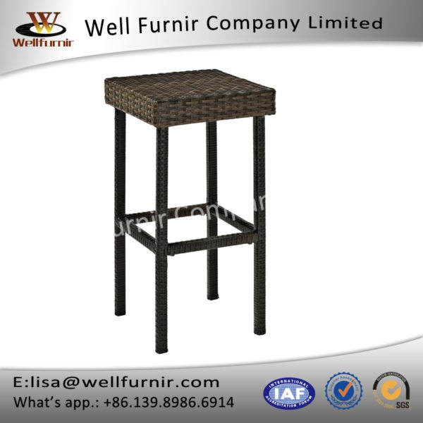 well furnir espresso white synthetic rattan outdoor dual cha