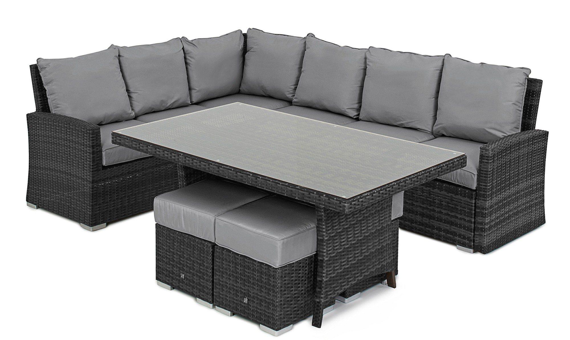 well furnir corner sofa dining table rattan garden set. Black Bedroom Furniture Sets. Home Design Ideas