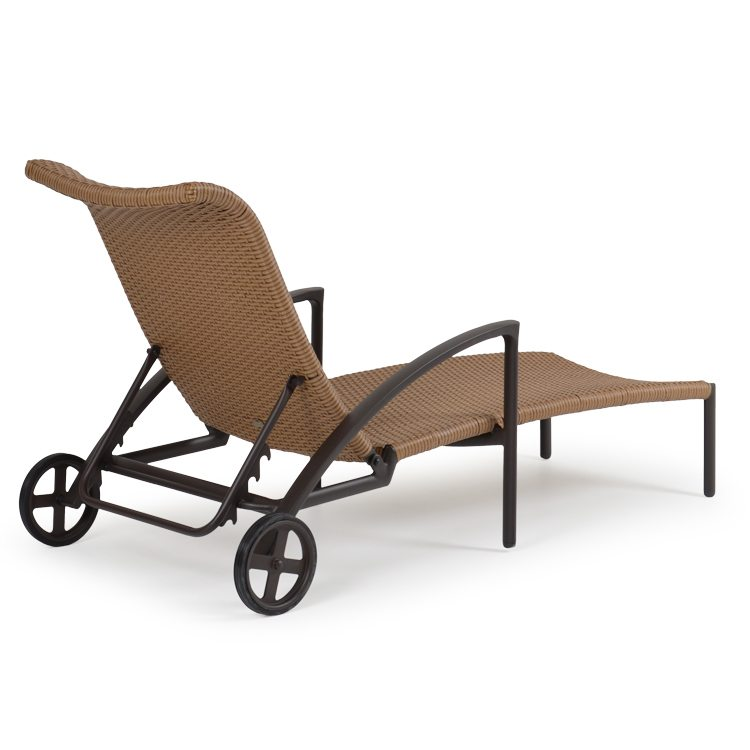 Rust Free Resin Outdoor Wicker Chaise Lounge Chairs
